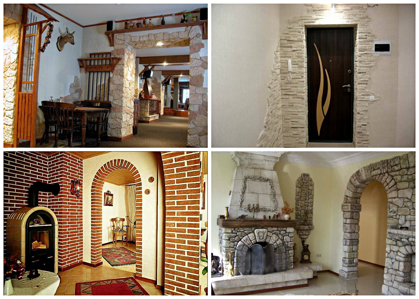 Types of materials for arches finishing