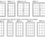 What is standard door width