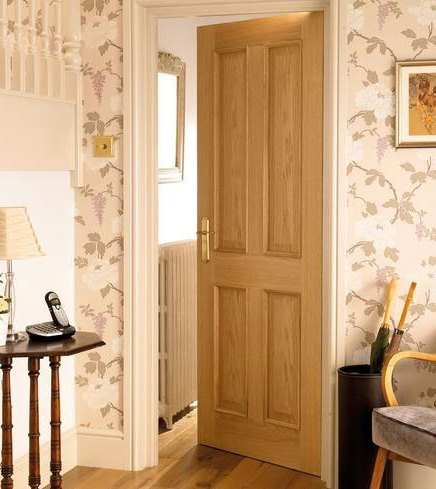 4 panel oak fire door