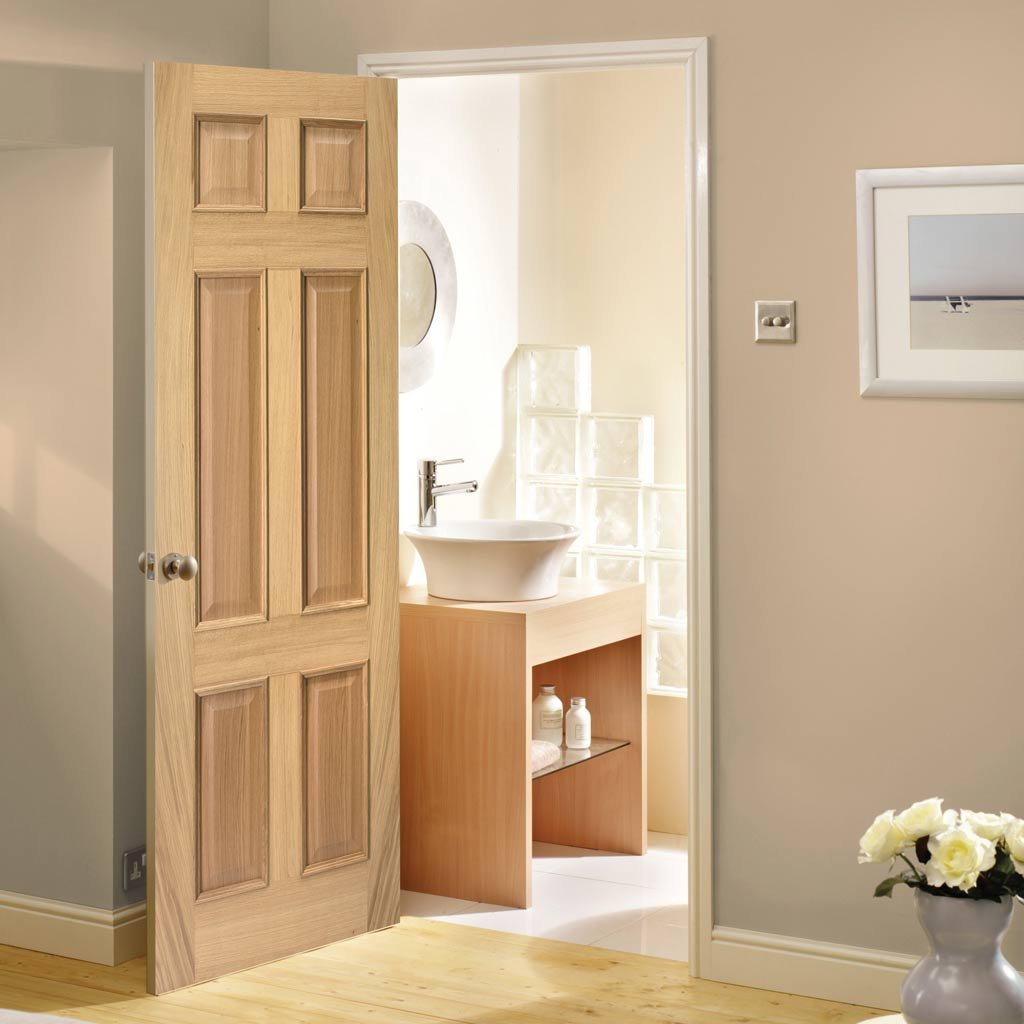 6 panel oak fire doors