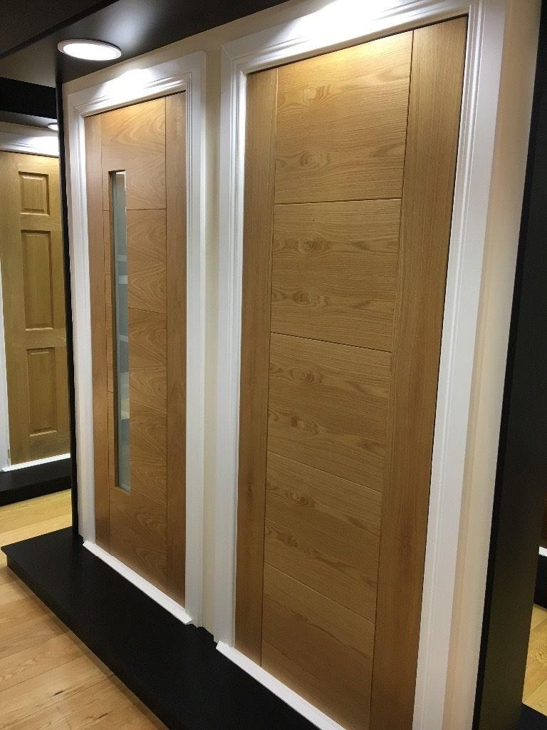 Cheap oak fire doors in the store