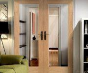 Double oak fire doors