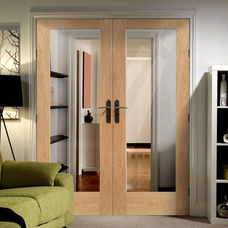 Double oak fire doors