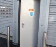 External fire escape doors
