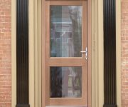 External glazed fire doors