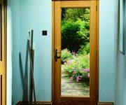 External wood glazed fire doors