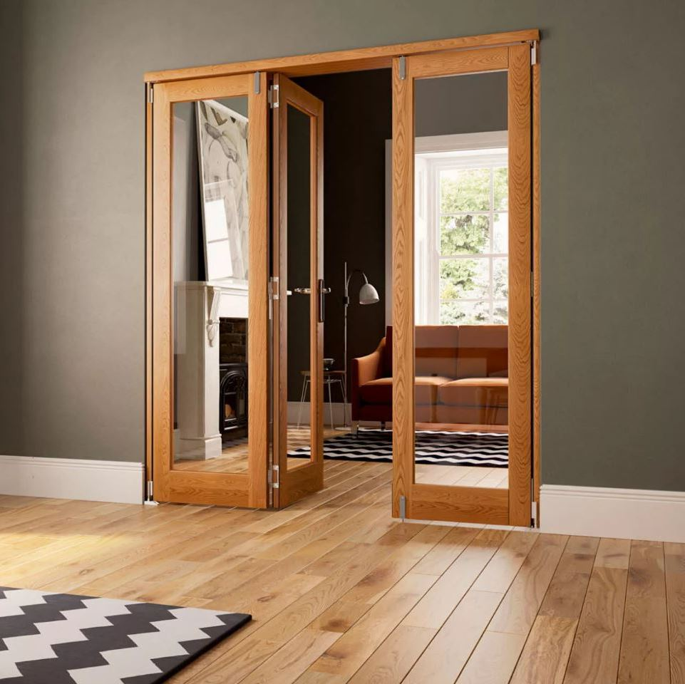 Sliding Oak Fire Door