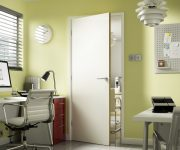 FD60 Internal Laminate White Oak Fire Door