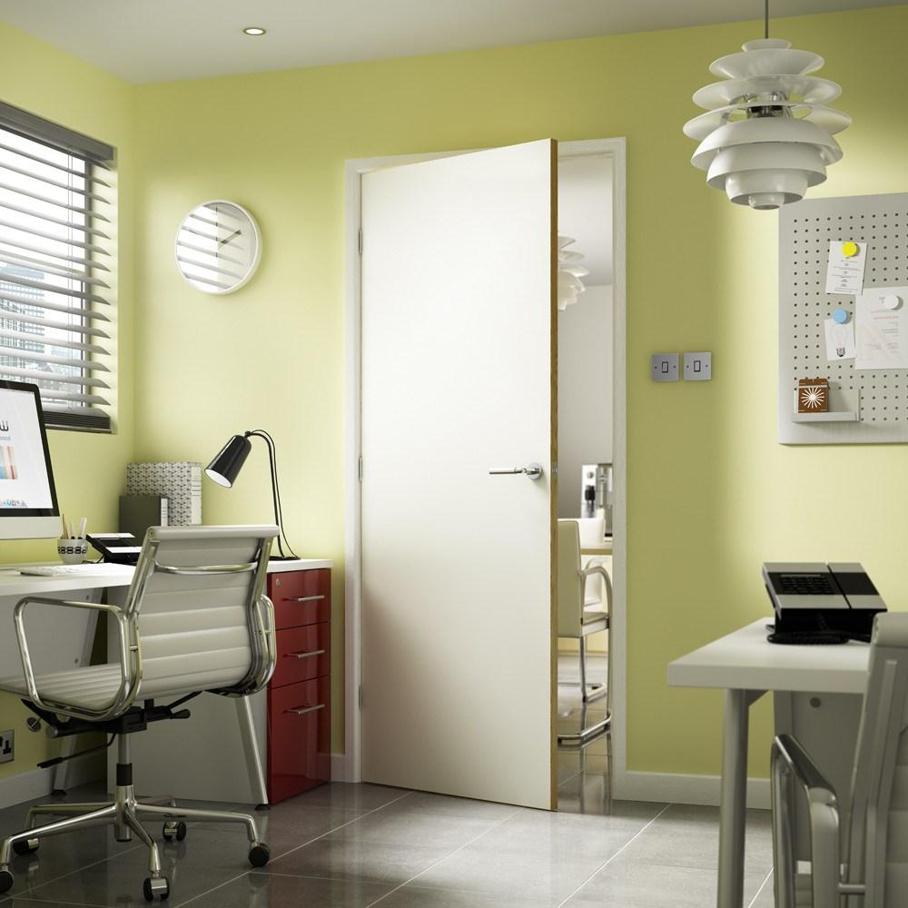 FD60 Internal Laminate White Oak Fire Door