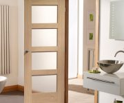 Fire rated oak doors with glass