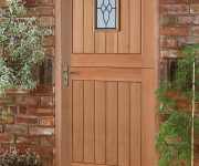 Front fire oak doors