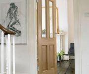 Glazed internal oak fire doors