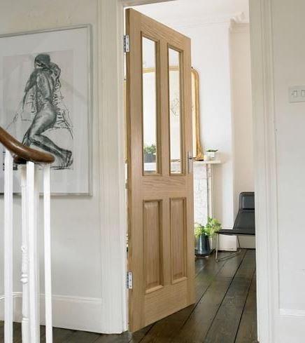 Glazed internal oak fire doors