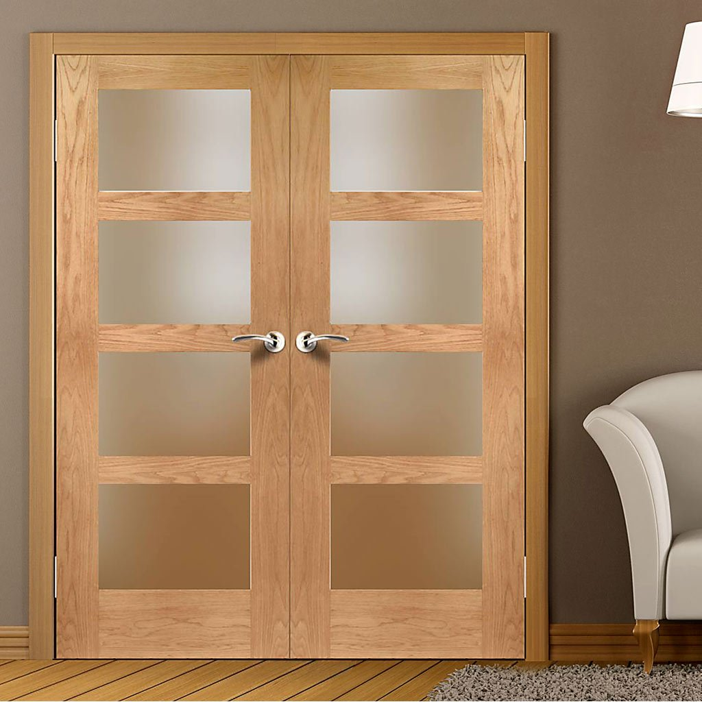 Interior fire oak doors