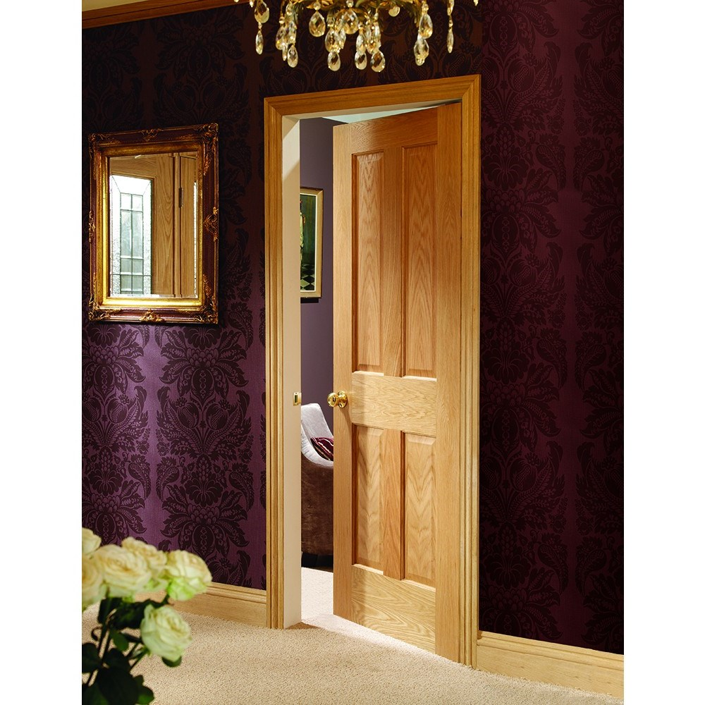 Internal Oak Veneer Victorian 4 Panel FD30 Fire Door