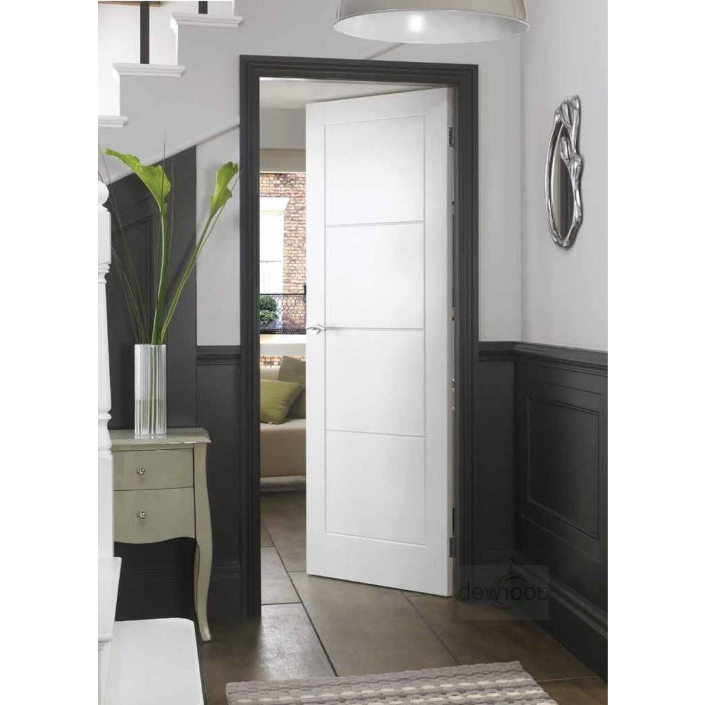 Internal White Moulded Fire Door FD30