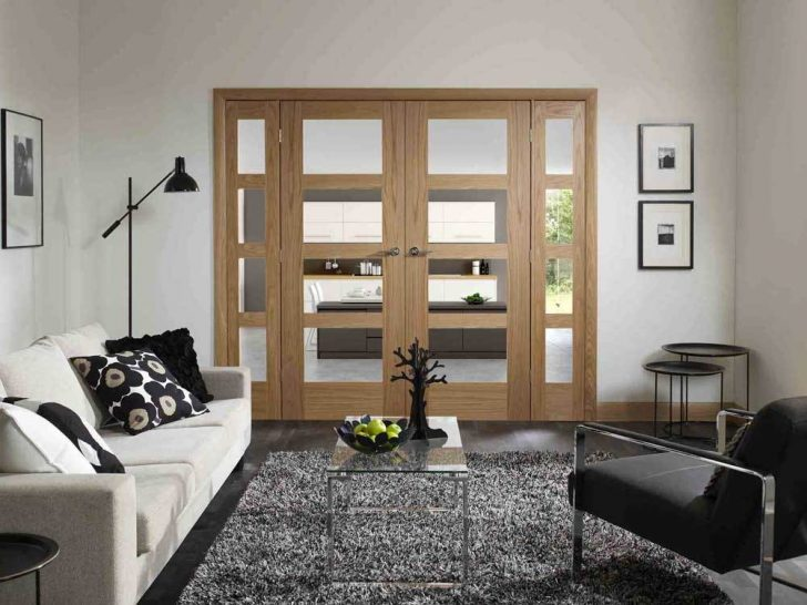 Internal fire doors with glass panels