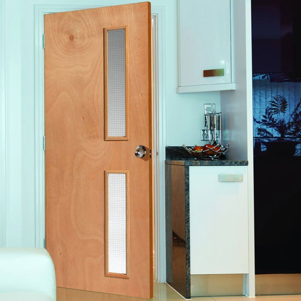 Internal glazed oak fire doors