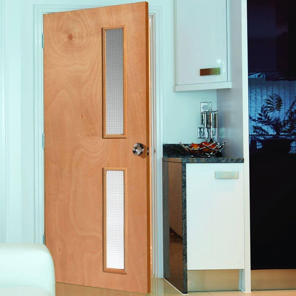 Internal glazed oak fire doors