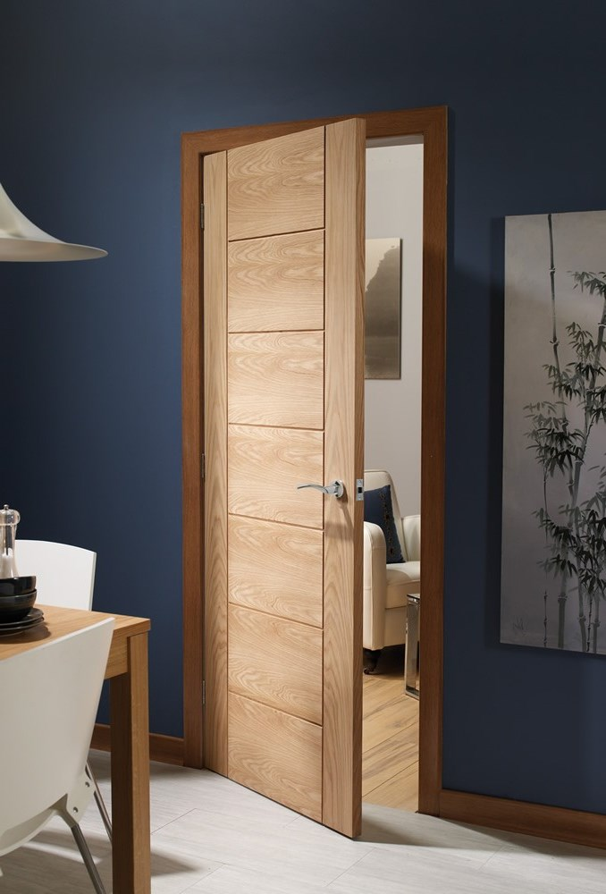 Modern Internal Oak Fire Door