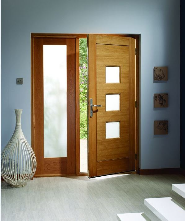Modern glazed external fire doors