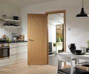 Oak fire doors internal in kitchen