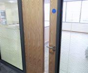 Oak fire proof office door