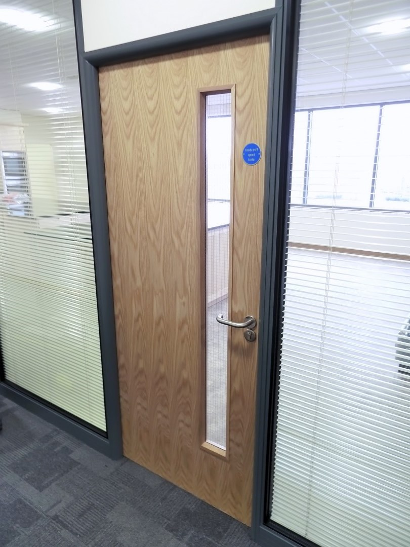 Oak fire proof office door