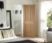 Oak internal fire doors in bedroom