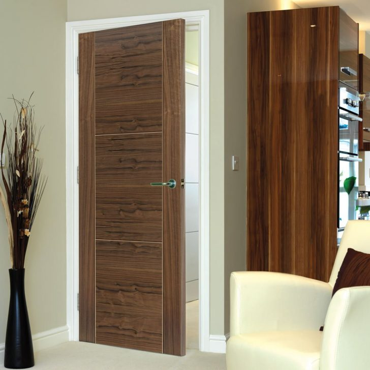 Oak veneer fire doors