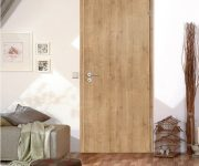 Rustic fire proof oak doors