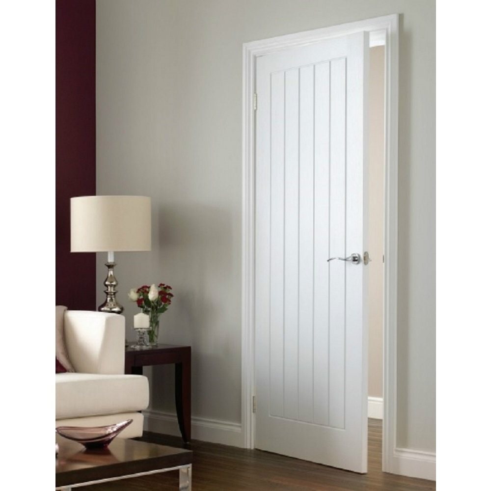 White interior oak fire doors