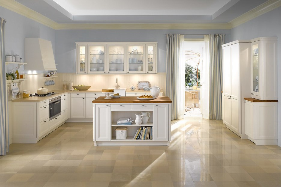 Ceramic tiles flooring for kitchen contry stile