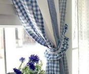 Curtains in the kitchen country style
