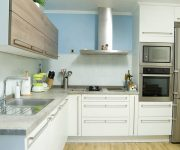 Hi-Tech Kitchen Furniture – Wooden facades of light shades