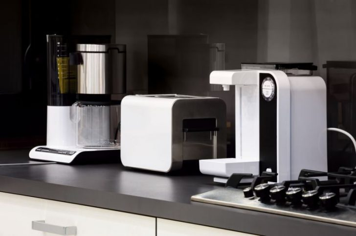 Home appliances in a modern high-tech kitchen