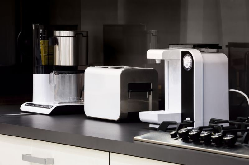 home appliances in a modern high tech kitchen