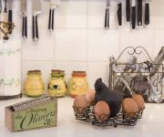 Kitchen country style decor chicken egg stand 180x150 - Country-Style Kitchens