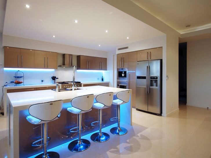 LED strips for kitchen in high tech style 728x546 - High-Tech Kitchen