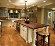 Laminate flooring in the kitchen of country style