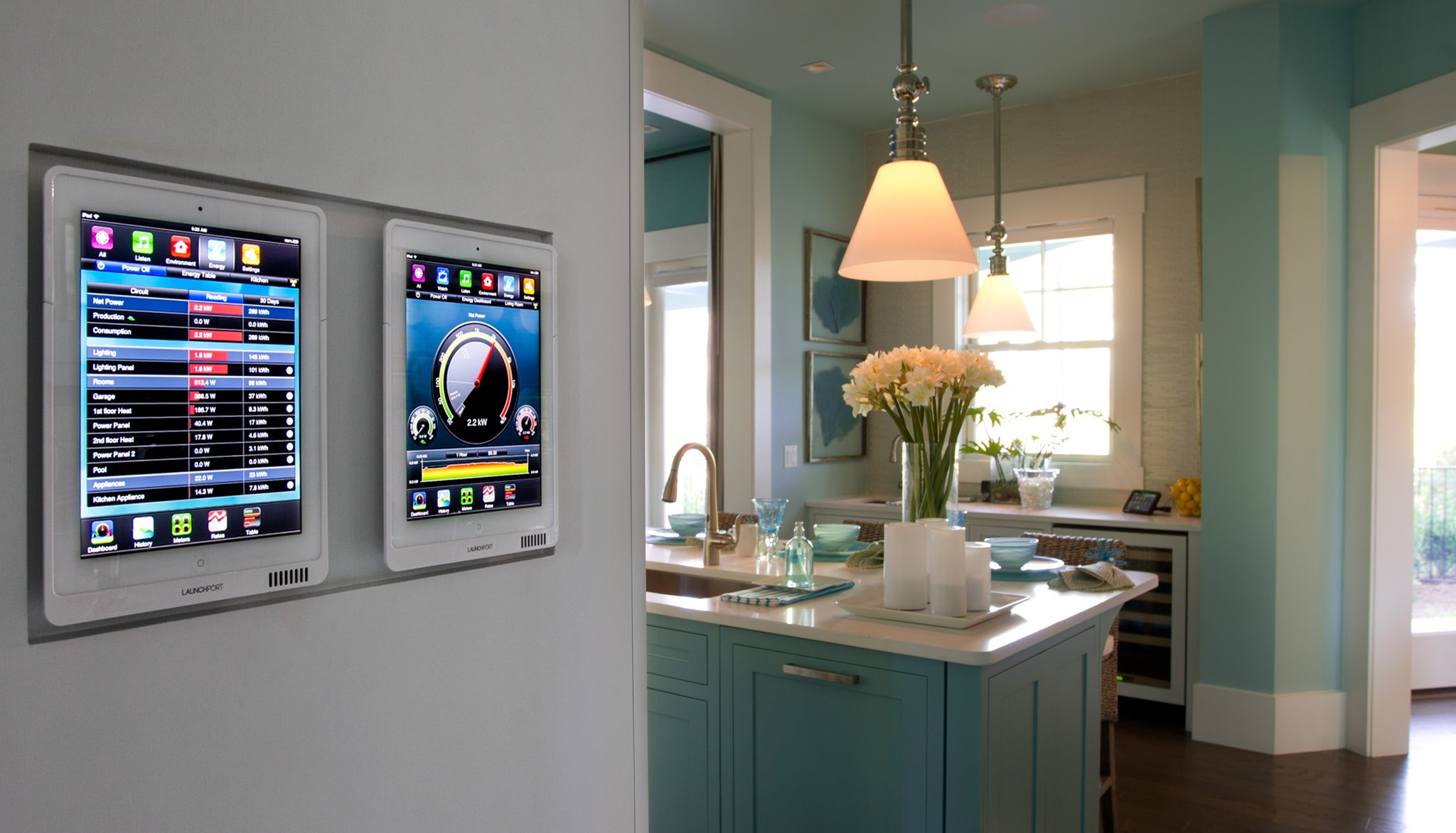 Smart kitchen high-tech style
