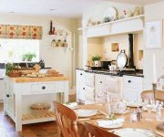 The design of a kitchen country style