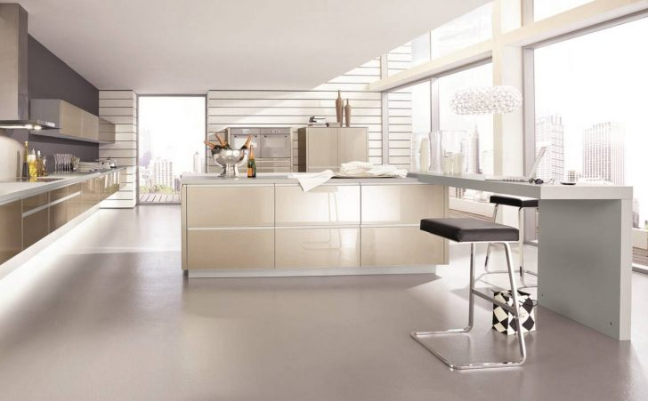 The materials used for the kitchen in style hi tech glossy glass plastic and metal 728x451 - High-Tech Kitchen