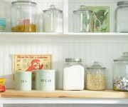Vessels and other structures for storing cereals or sugar country style kitchen decorating ideas 180x150 - Country-Style Kitchens