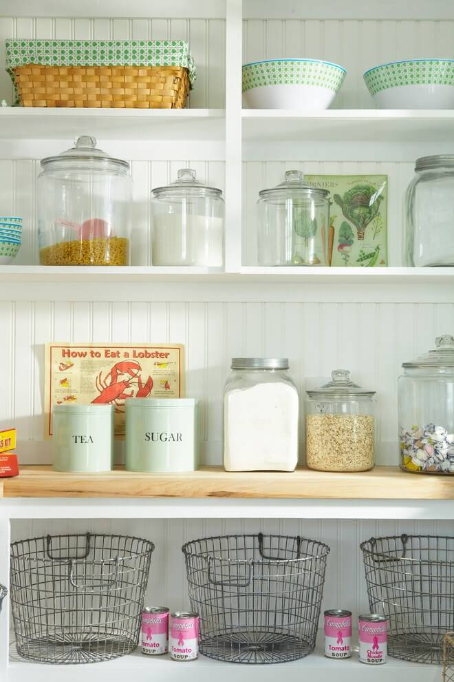 Vessels and other structures for storing cereals or sugar - country style kitchen decorating ideas