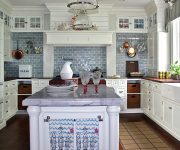 White Kitchen in Country Style 180x150 - Country-Style Kitchens