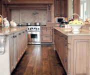 Wood Floor Kitchen 180x150 - Country-Style Kitchens