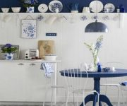 Blue and white kitchen in Provence style 180x150 - Provence Style Kitchens – 100 ideas for interior