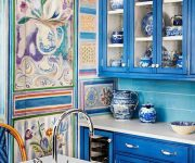 Blue kitchen Provence style decor 180x150 - Provence Style Kitchens – 100 ideas for interior