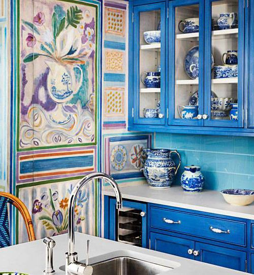Blue kitchen – Provence style decor
